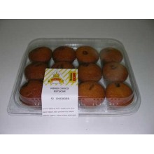 Lozano mini choco-muffins box of 12 packages of 12 units.