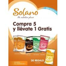 Lote Caramelos Solano 5+1 bolsas sin azúcar.