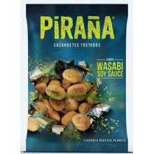 Wasabi Roasted Peanut flavor piranha case with 12 bags 75gr.