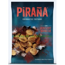 Barbecue Roasted Peanut flavor piranha case with 12 bags of 75gr.
