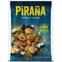 Toasted Peanut Curry flavor piranha case with 12 bags 75gr.