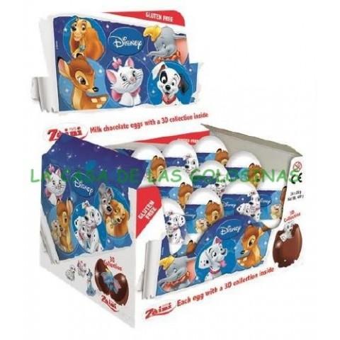 Huevos de chocolate Animales Disney 24 unidades.