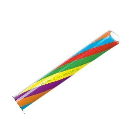 Regaliz Fini maxi relleno 6 colores brillo 70 unidades.