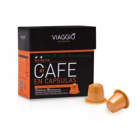 Cápsulas Café Viaggió espresso Ristretto estuche 10 unidades.
