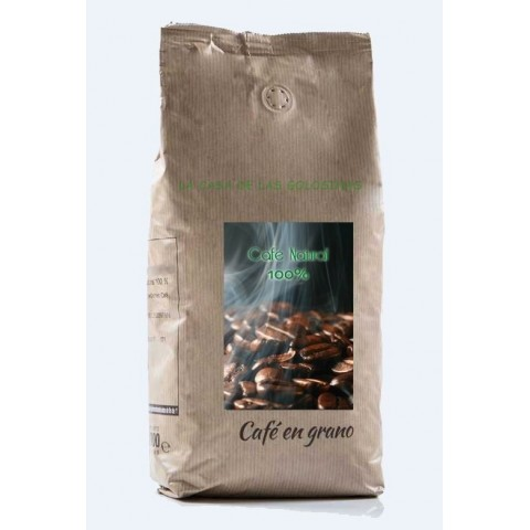 Café en grano crema natural 100% 1kg.