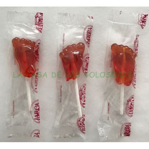 Candy with stick mini feet Easter 800g. Approx. 80/90 units.