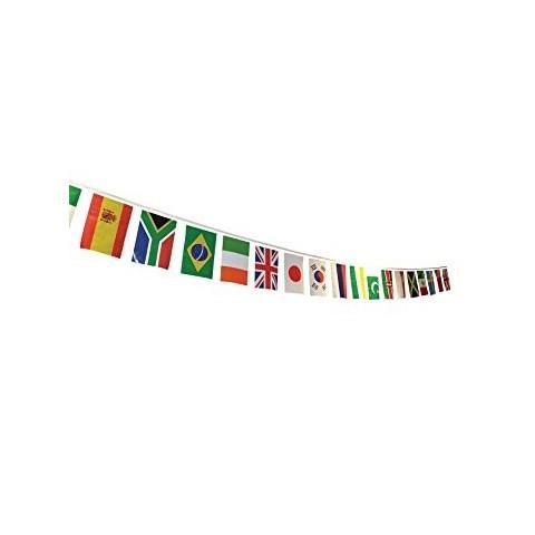 Bandera plástico internacional 30X20cm. 50m.