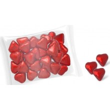 Interdulces wrapped chocolate hearts 1Kg.