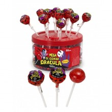 Candy with stick Mega Dracula Canister 50 units.