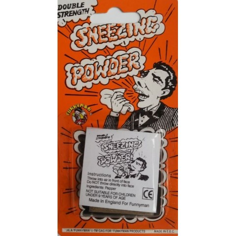 Sneezing powder prank.