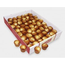 Lozano mini apple-muffins box of 12 packages of 12 units.