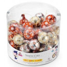 Christmas balls with wire 12 gr chocolate 50 units.