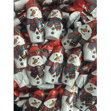 Chocolatinas figuras muñecos de nieve de chocolate bote 150u.