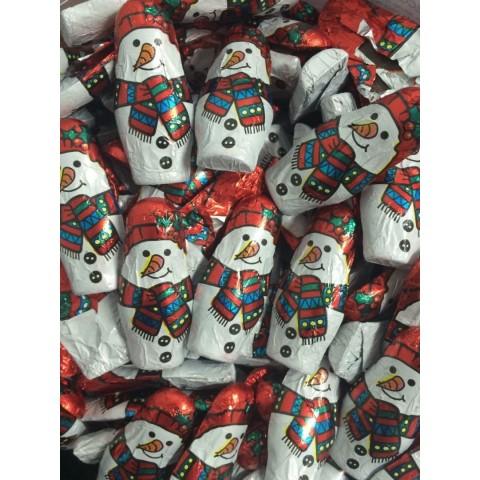 Figures chocolate snowmen bag 150u.
