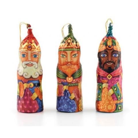 Figuras de reyes magos de chocolate con hilo 25gr 20unidades.