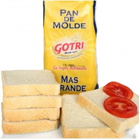 Pan de Molde Gotri caja con 8 bolsas de 800 grs.