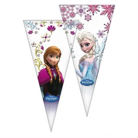 Bolsa cono 100u Frozen 20x40cm.