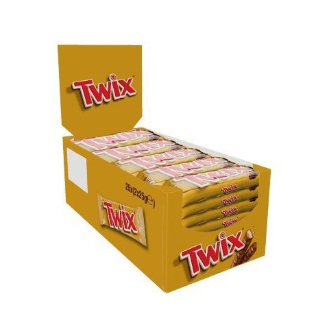 Twix chocolate bars.