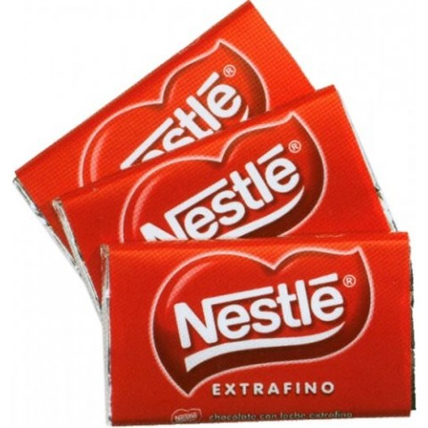 Nestle chocolate tablet's 20 grs. 36 units.