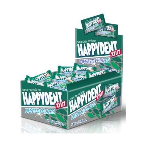 Happydent bubble gum box chlorophyl flavor