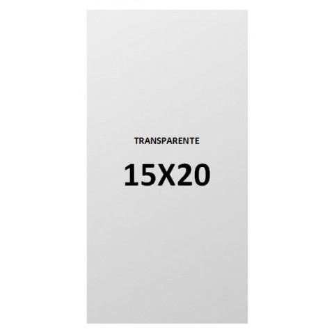 15x20 transparent plastic bags.