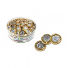 Interdulces chocolate coins 28 mm 300 units.