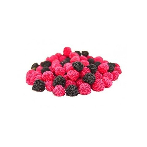 Gummy Mini Fini Moras 1 kg red and black.