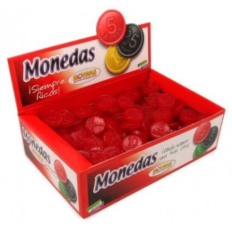 Roypas strawberry gummy coins 200 units.