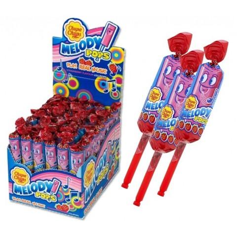 Melody pops sabor fresa estuche 48u.