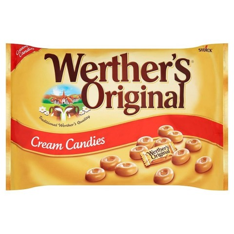 Werther's Original candy flavored cream 1kg bag.