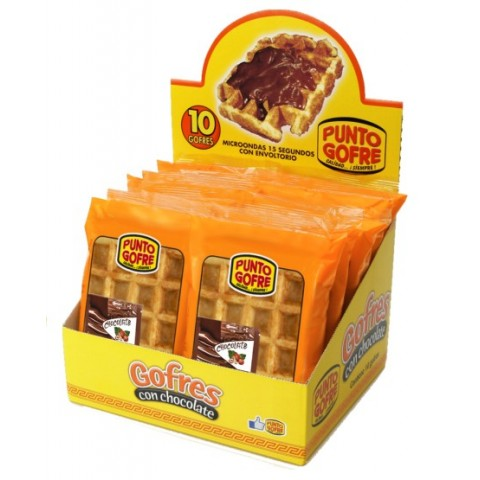 Waffle waffle with chocolate box Point with 10 points.