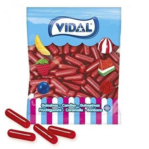 Throw jelly vidal 250u Lipstick red gum.