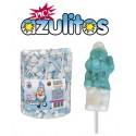 Sugars Magic blue little men sour lollypops tube 100 units.