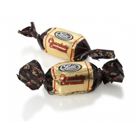 Lutti Carachoco candy black chocolate covered toffee.