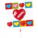 Cherry flavored lollipops Party case 80 units.