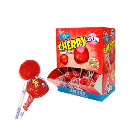 Pop lollipop suck 100 units Fini cherry filling gum flavor.