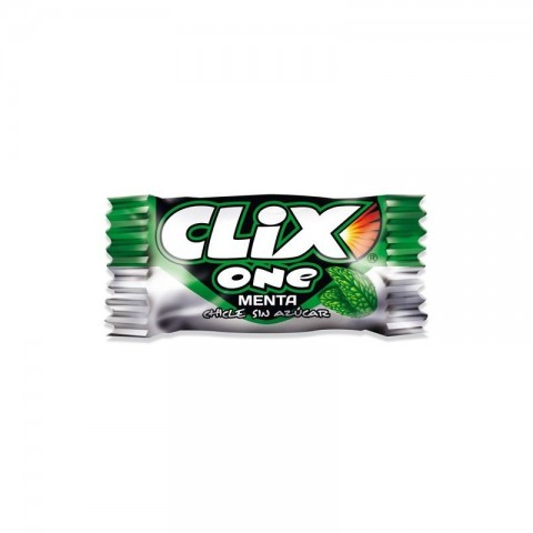 Mint flavor chewing gum without sugar Clix 200 units.