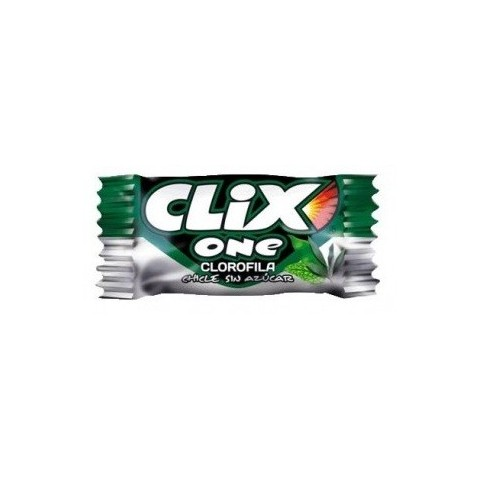 Chlorophyll flavor chewing gum without sugar Clix 200 units.