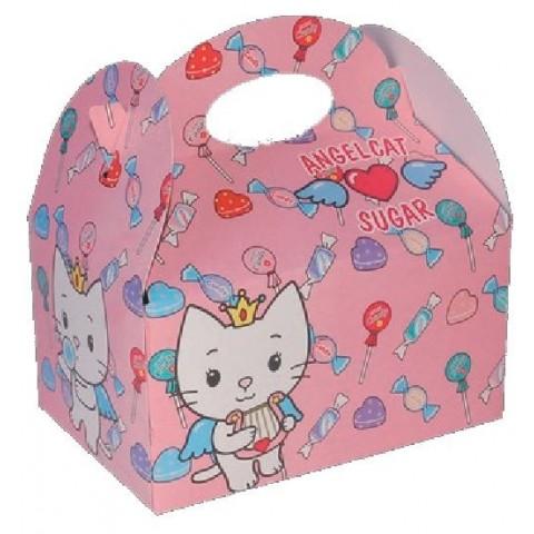 Cardboard box for celebrations Angel Cat 1u.