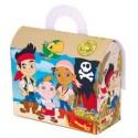 Cajita Cartón para celebraciones Jake y los Piratas 1u.