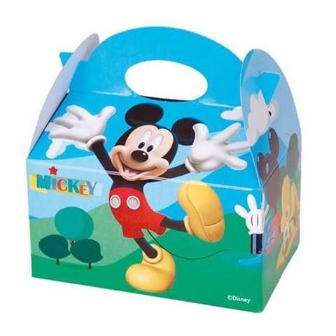 Cajita Cartón para celebraciones Mickey Balloons 1u.