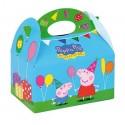 Cardboard box for celebrations Peppa Pig 1u.