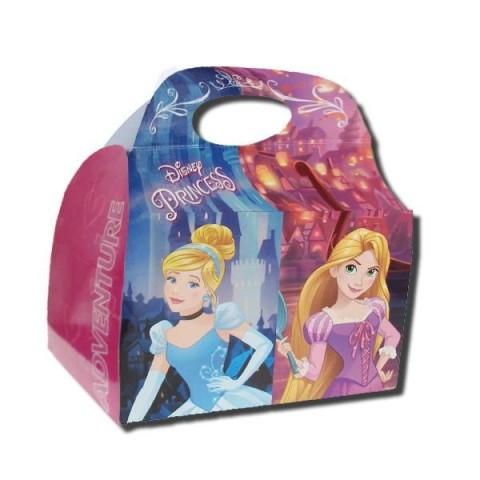 Cajita Cartón para celebraciones Princesas Adventure 1u.