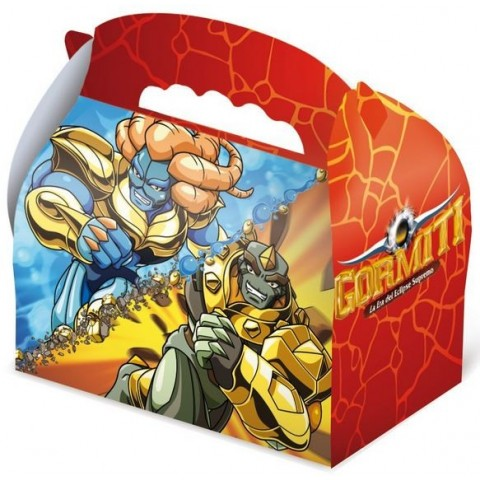 Cardboard box for celebrations Gormiti 1u.