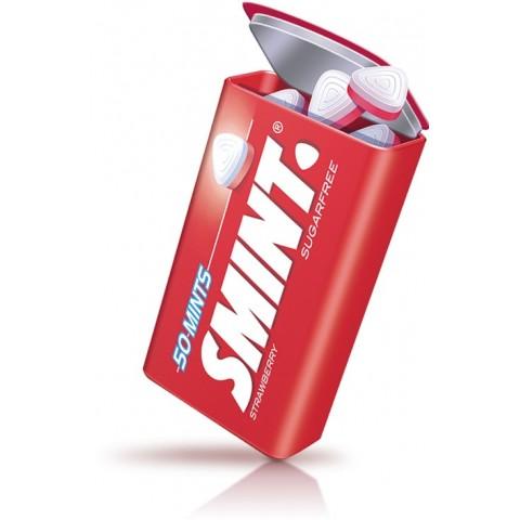 Smint mints tin boxes strawberry metal case 12.