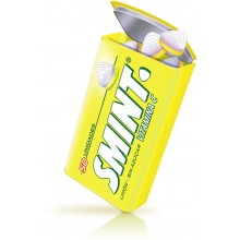 Smint tin sabor limon estuche 12 cajitas metálicas.