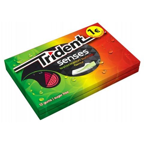 Trident senses gum watermelon sunrise flavour 12 boxes.