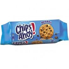 Galletas Chips ahoy con chocolate 12 paquetes.