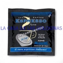 Decaffeinated coffee pods Musetti case 150 units.