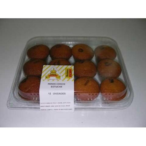 Mini madalenas choco Lozano caja de 12 bandejas de 12 unidades.